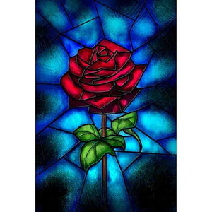 Rose Diamond Cross Stitch Crystal Diamond Painting Kit - DIY