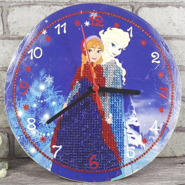 Clock Frozen Diamond Painting Kit - DIY