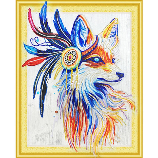 Special Shaped Wolf Diamond Painting Kit - DIY