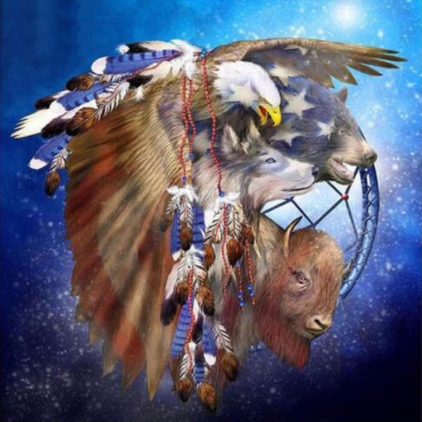 Eagle Wolf Bear Buffalo Diamond Painting Kit - DIY