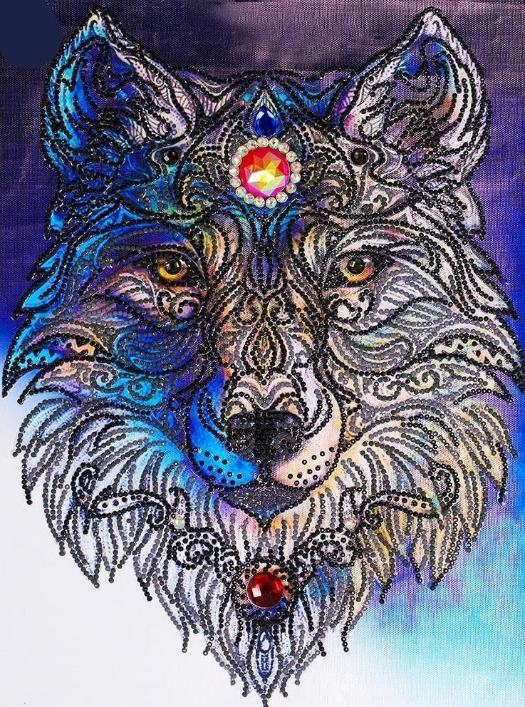 Special Shaped Animal Wolf Diamond Painting Kit - DIY