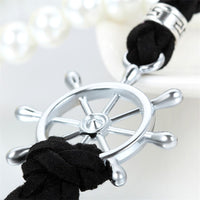 Aadjustable Pirate Style PU Leather Rudder Bracelets