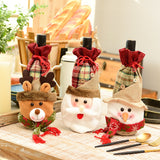 Noel 2019 Xmas party decoration for home Wine Bottle Cover Bags