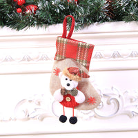 Christmas Stocking Mini Sock Santa Claus Candy Gift Bag