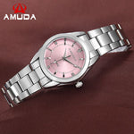 AMUDA Brand Fashion Wristwatches Women Stainless Steel