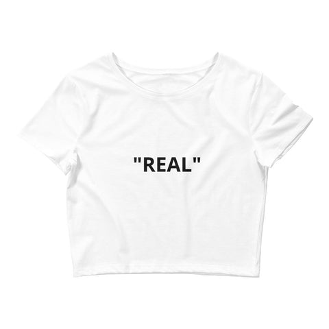 Real! Crop Tee White