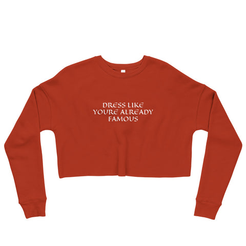 Already Famous Crop Sweatshirt