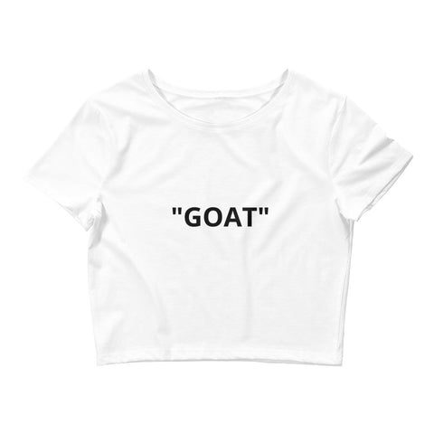 Goat! Crop Tee White