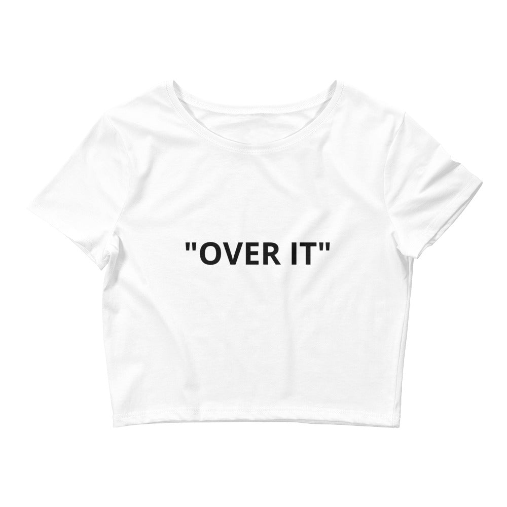 Over It! Crop Tee White