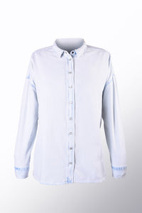 Light Wash Button Down Denim Shirt
