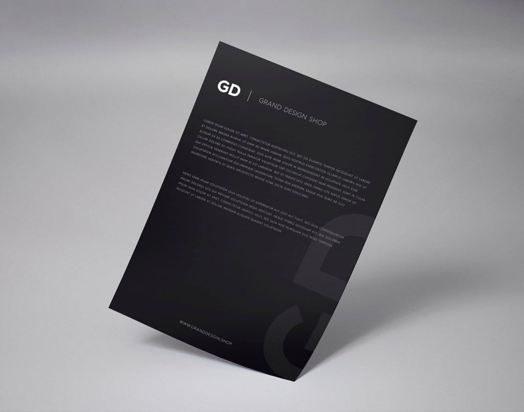 A4 Paper PSD MockUp - Grand Design Shop