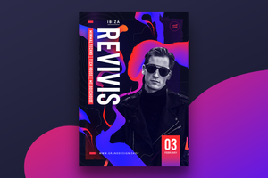 Gradient Party Flyer Template