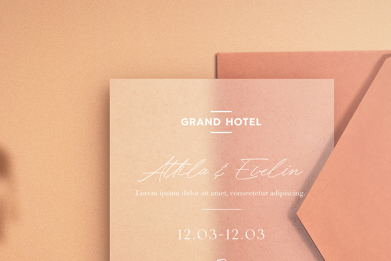 Save the Date - Paper Mockup (free)