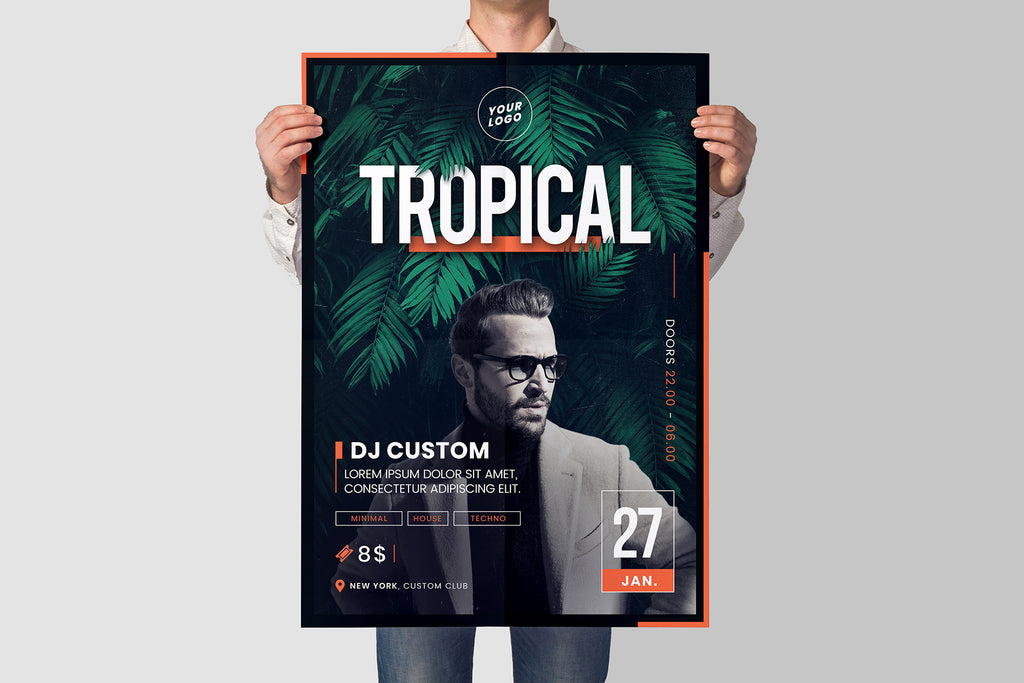 Tropical Party Flyer | 5 size - Grand Design Shop