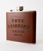 Leather Drinking Team Flask
