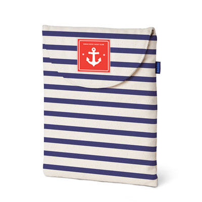 Skipper Striped iPad Sleeve
