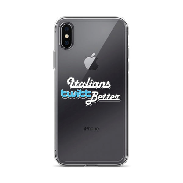 Custodia iPhone X - Italians twitt better - WebLogo Store