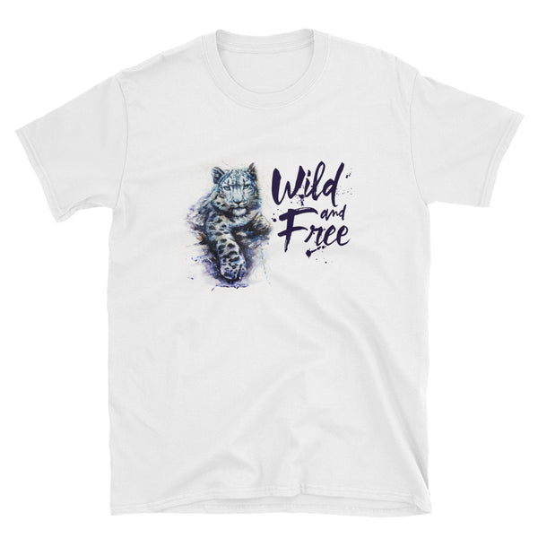 "T-Shirt Uomo Donna ""Wild and Free"" - WebLogo Store"