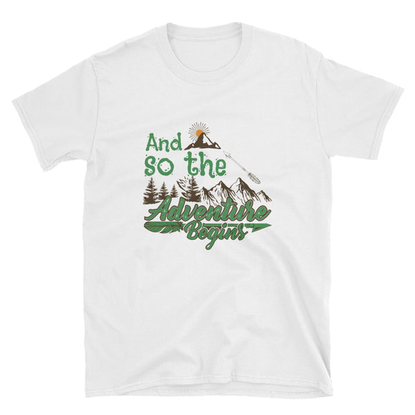 "T-Shirt ""...and so the adventure begins"" - WebLogo Store"