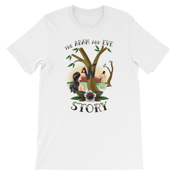 "T-Shirt uomo donna ""The Adam ad Eve Story"" - WebLogo Store"