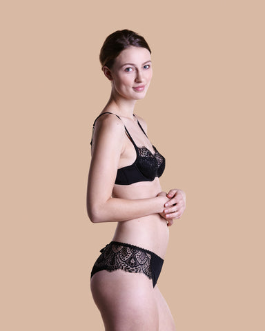 Rue Monsieur Black Lingerie Set