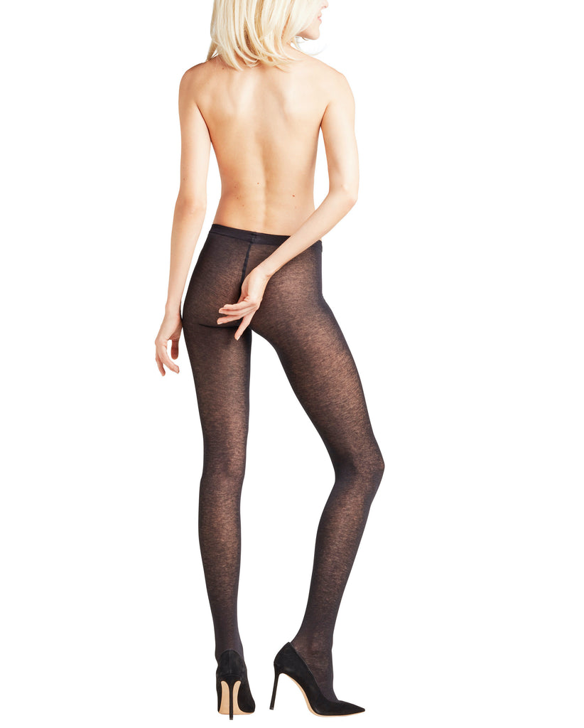 Falke's sensual cashmere tights have a flat knit waistband for a comfortable fit