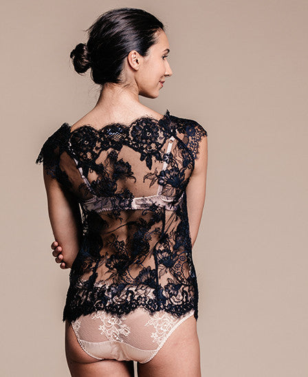 Sheer Black Lace Shell
