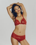 Dentelle Glamour Red Lingerie Set from Lise Charmel