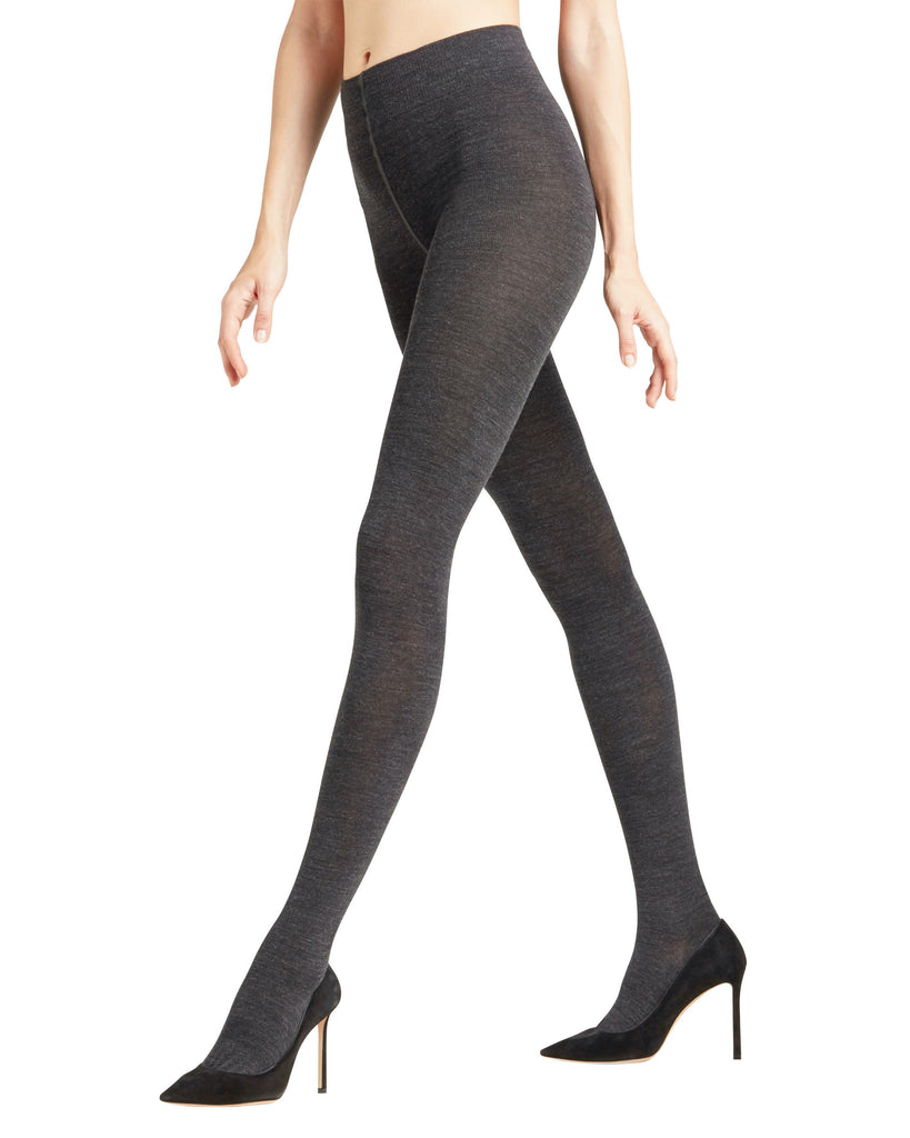 Falke SoftMerino Tights are knit to keep merino wool on the outside and cotton next to the skin