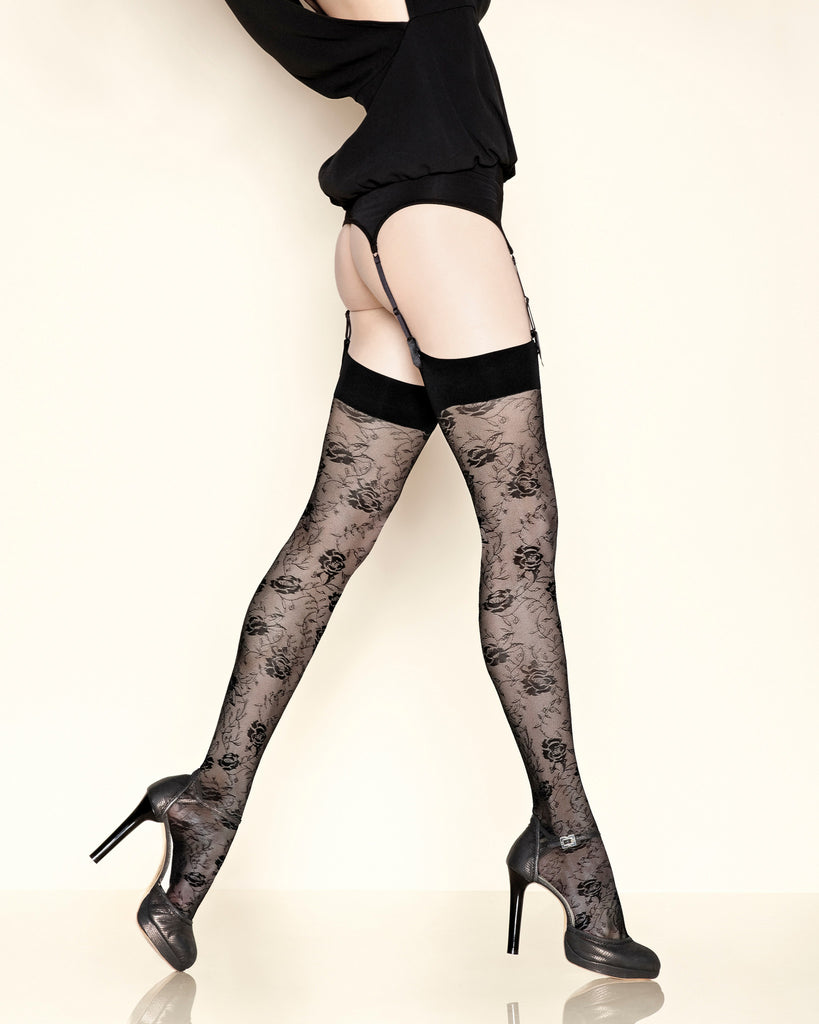 Grand Hotel Floral Lace Stocking from Gerbe