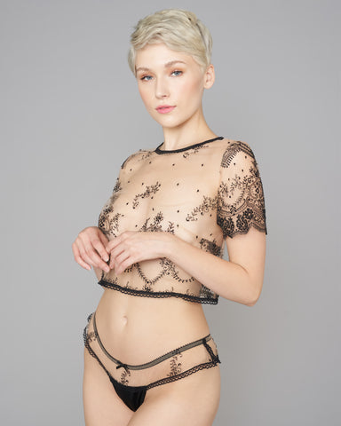 Flora Embroidered Lingerie Set