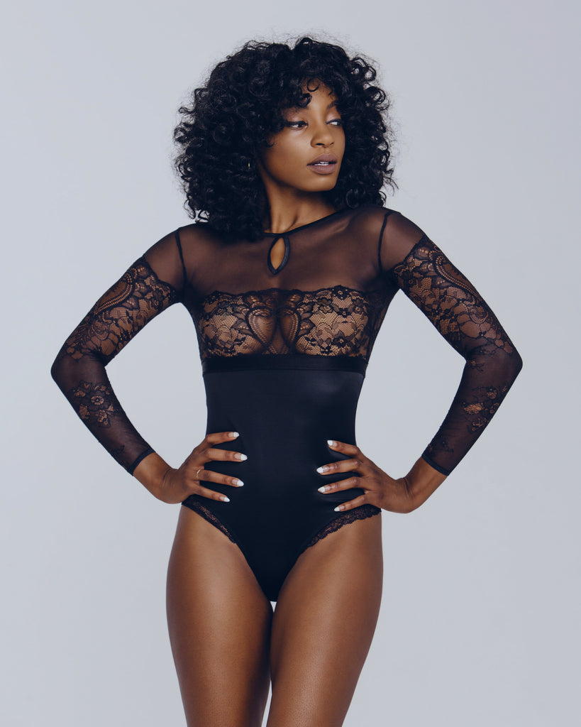 Cadolle coeur long sleeved bodysuit