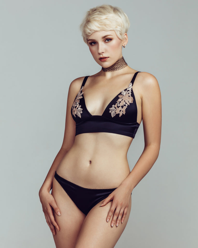 Cadolle Gloria silk bralette set
