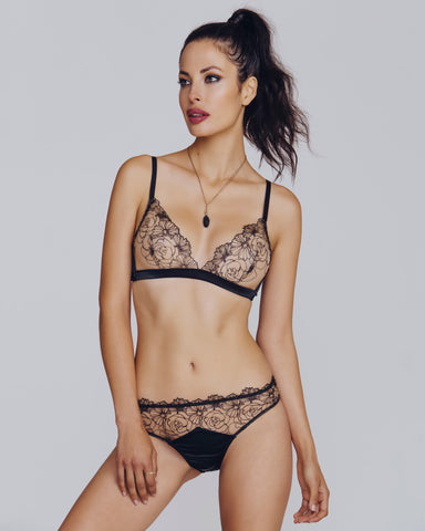 Narcisse Embellished Lingerie Set