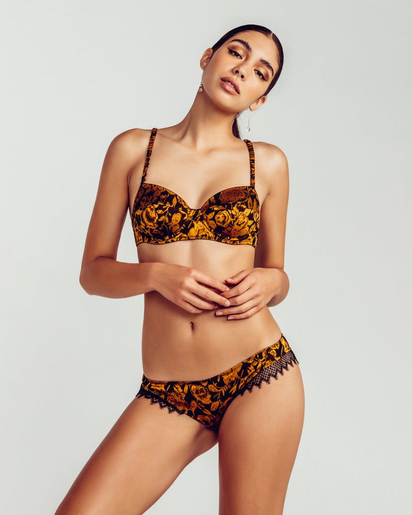 Camille Roucher Gold Pearl Lingerie Set