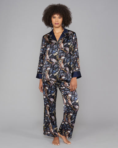 Coco Ink Silk Pajamas