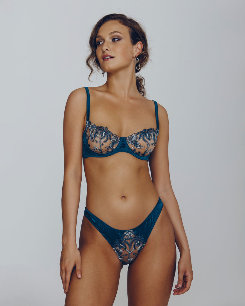 Coco de Mer Lovers Palm Lingerie Set