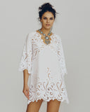 Dream Embroidered Cotton Kaftan from Dana Pisarra