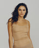 Lace Strap Gold Rib Silk Camisole from Dana Pisarra