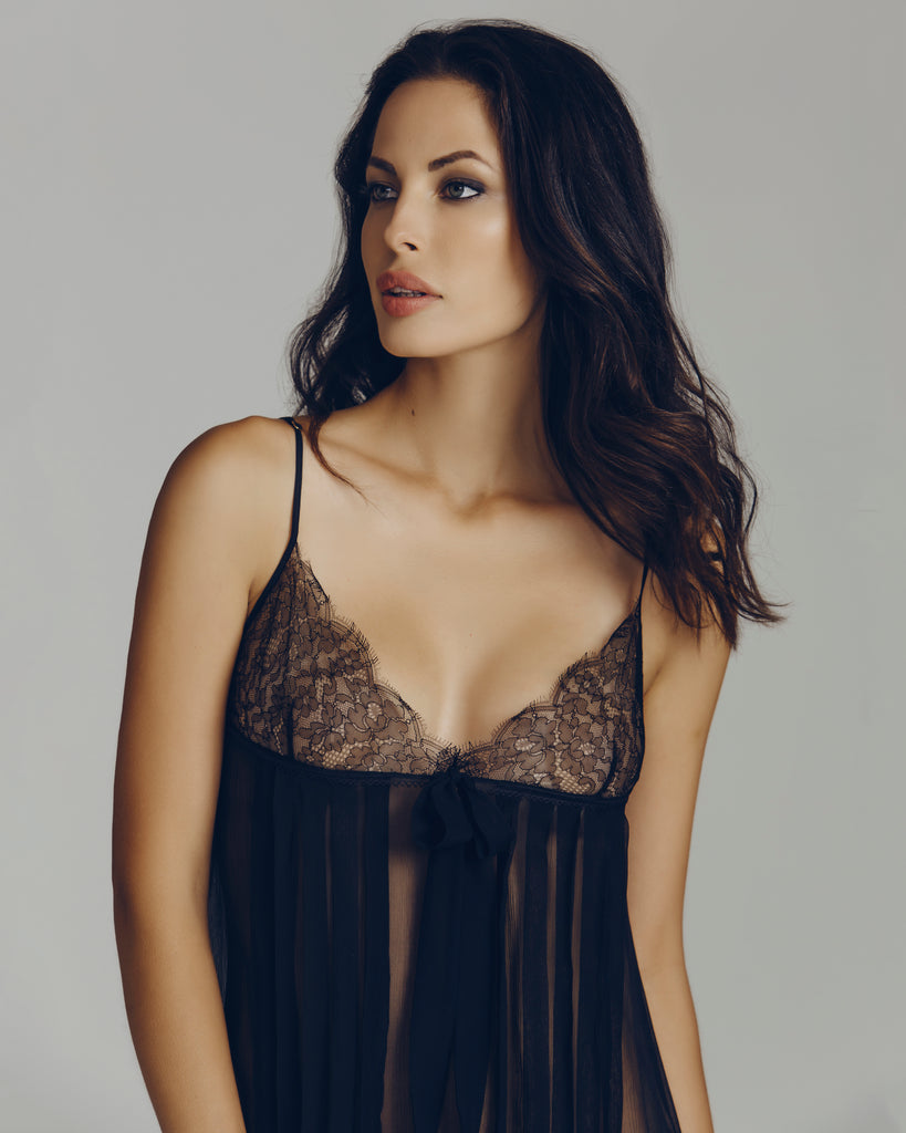 b95868915d Babydoll designed by Elise Anderegg with pintucking details at the front of  the body provide a; Sheer ...