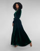 Gilda & Pearl Garland Emerald Green Long Silk Velvet Robe