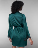 Ophelia Emerald Silk Robe