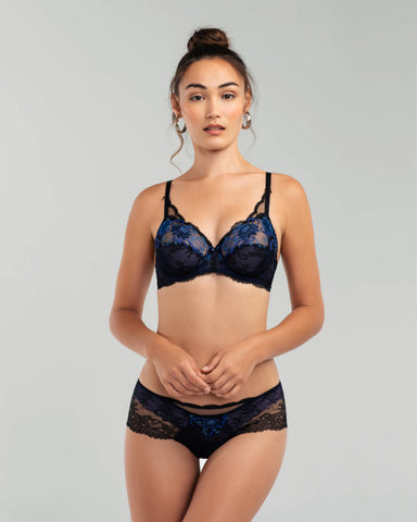 Rama Sanguine Silk Lingerie Set