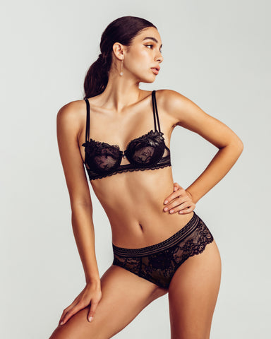 Gloria Embroidered Bralette Set