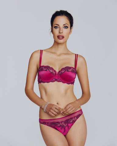 Ermitage Red Silk Balconette Set