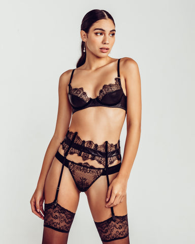 Ermitage Embroidered Sheer Balconette Set
