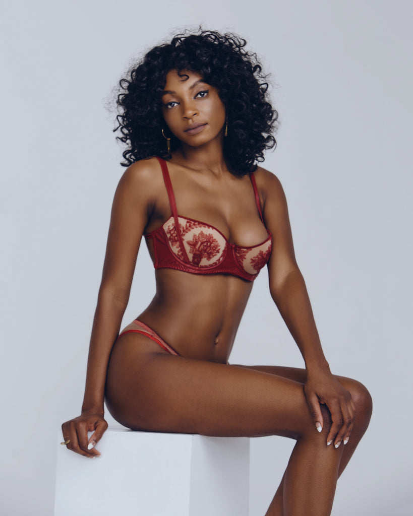 Loveday London Le Rouge Lingerie Set