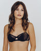 Comfortable underwired, unlined bra is constructed of microfiber and tulle, comfortable and easy to wear, from Madame Aime