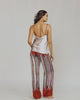 Meng pajama pant has chic wide legs and a drawstring waist