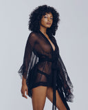 Merle Noir Giselle Sheer Robe available for special order from Jane's Vanity